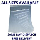 Clear Grip Seal Bags Self Resealable Poly Plastic Zip Lock Self Seal *All Sizes*