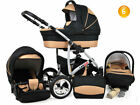 Baby Pram Newborn 3in1 Car Seat Pushchair Travel System Carrycot Buggy Stroller <br/> FORWARD&amp;REAR FACING MODE,DIAPER BAG,RAIN COVER FREEBIES