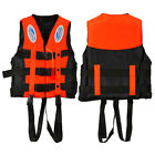 6Size Polyester Adult Life Jacket Universal Swimming Boating Ski Vest+Wh #ORP