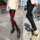 Retro Colorful Pattern Printed Skinny Leggings Stretch Pencil Pants Trousers