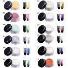 Mirrow Chrome Effect Nails Powder 2g with Brush Tool Nail Art Pigment Glitters