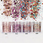 1 Box 10ml Nail Art Glitter Powder Purple Sequins Sheets Decorations for DIY