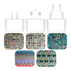 ANGELO CERANTOLA PATTERNS WHITE UK CHARGER & MICRO-USB CABLE FOR HUAWEI PHONES 2