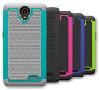 For ZTE Avid Trio Z833 Case Hybrid Rubber Shockproof Protective Phone Cover