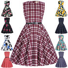 Girls Princess Kids 50s Vintage Dresses Floral Birthday Party Causal Child GIFT