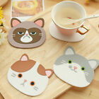 Cat Tea Coasters Cup Holder Mat Coffee Drinks Drink Silicon Coaster Pads Sanwood