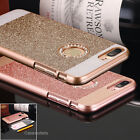 iPhone 7/7 Plus Luxury Diamond Bling Rubber Bumper Case Hard Back Cover Fr Apple