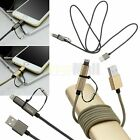 2in1 MFi Micro USB & Lightning Sync Data Quick Charger Cable for iPhone7 6S Plus