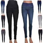 Leigh skinny jeans coloured MATERNITY stretch soft bump band UK Size 8 10 12 14