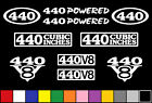 440 CI V8 POWERED 10 DECAL SET ENGINE STICKERS EMBLEMS FENDER BADGE DECALS