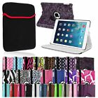 360 Rotating Magnetic PU Leather Case+Tablet Sleeve For Apple iPad Air 5 5th Gen