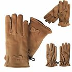 Womens Motorcycle Bicycle Bike Protective Short Leather Gloves