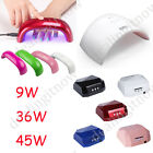 Colorful 9W 36W 45W LED Lamp Nail Printer Portable Polish Dryer Salon Gel Curing