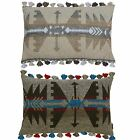 Paoletti Inca Tassel Edging Cushion Cover