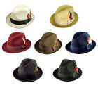 fedora hat - New Men 's 100% Wool Fedora Trilby / GodFather Hat Style LH-1 Size S M L XL