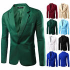 Stylish Mens Casual Slim Fit Formal One Button Suit Blazer Coat Jacket Tops Suit