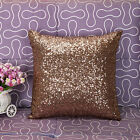 Glitter Sequins Solid Color Throw Pillow Case Home Car Waist Cushion Cover 2016