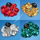 2pc METALIC FOIL LOOK FABRIC HAIR SCRUNCHIE BANDS CHRISTMAS DISCO DANCE PARTY