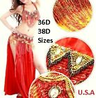 Belly Dance Costume 2pc Set USA Fast Shipping Large PLUS SIZE HALLOWEEN