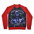 Star Wars Christmas Jumper Adults Darth Vader Merry Force Be With You Red Fleece