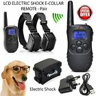 Rechargeable Electric Shock E-Collar 2 Dogs Training Remote Control Anti-Bark