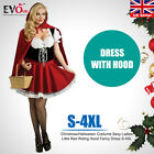 Sexy Ladies Little Red Riding Hood Fancy Dress Christmas/Halloween Costume S-4XL