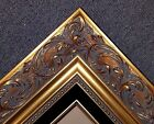 "4"" Large Classic GOLD black Ornate WOOD Picture Frame Wedding 1217Gb frames4art"