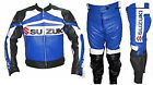 Suzuki Men Motorbike Racing Leather Suit Racing Motorcycle Cowhide Suit