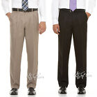 NWT SAVANE Microfiber Performance Comfort Waist Wrinkle Free Men Dress Pants $65