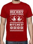 Merry Christmas Bitches T-Shirt Xmas Ugly Sweater Humping Reindeer Funny