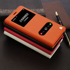 Genuine Makemate Leather Cowhide Flip Stand Cover Case For Samsung Galaxy Note 4