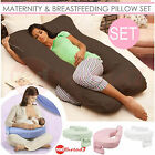 Maternity & Breastfeeding Pillow Set Pregnancy Feeding Baby Bed Support Cushion