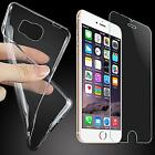 Shock Proof Case Silicone Cover Slim Bumper Screen Film for Galaxy and iPhone