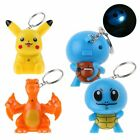 POKEMON PIKACHU Charizard Squirtle Light up LED with Sound Keyring KeyChain Gift