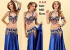 Belly Dance Costume 2pc Set USA Fast Shipping FREE GIFT PLUS SIZE
