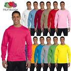 Fruit of the Loom Men's 6 oz  Lofteez HD Long Sleeve S-XL T-Shirt MHD6LR