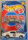 HOT WHEELS 2000 CHICAGO CUBS BASEBALL GIVEAWAY CHEVELLE & Monte Carlo 2-PAC