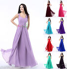 Long Chiffon Women's Bridesmaid Dresses Formal Party Prom Evening Gown 4-18