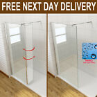 Walk In Wet Room Shower Screen Cubicle Flipper Glass Panel 8mm Easy Clean Glass
