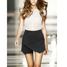 Womens Irregular Tiered Culottes Skorts Shorts Skirt Slim Hot Short Pants S-XXL