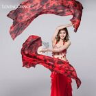 100 Silk Belly Dance Isis Wings Dancing Scarf Viel Fan White Free Shipping
