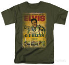Elvis - G.I. Blues Poster Apparel T-Shirt - Military Green