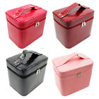 Large Capacity Women Leather Finalize Design Makeup Case Bag Cosmetic Box Case