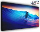 Neon Waves Panoramic Canvas Print Modern Art 4 Sizes to Choose Ready to Hang