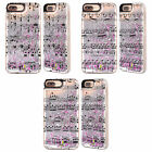 HEAD CASE MUSIC SHEETS SILVER GLITTER CASE FOR APPLE iPHONE 7 PLUS / 8 PLUS