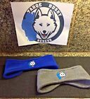 TAHOE HUSKY RESCUE STRETCH FLEECE HEADBAND BLUE AND GRAY OSFM BENEFITTING THR
