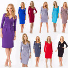 New Women Autumn Spring Casual Basic Penci Dress Party Full Sleeve Plus Size