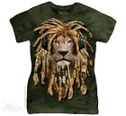 New The Mountain Rasta Lion DJ Womens T Shirt