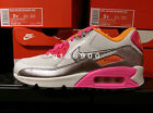 Nike Air Max 90 Mesh GS White Pink Girls Youth Running 724855-101
