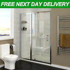 Pivot Hinge Shower Enclosure Door and Tray 6mm Safety Glass Walk In Cubicle